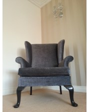 Upholstery - Parker Knoll Wing Chair - Textured Fabric